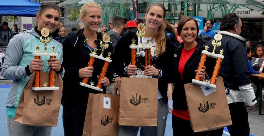 Triple J. Fra venstre: Therese Häger, Tina Stenerud Moen, Tori Solberg Halvorsen og Jeanine Flaaten.